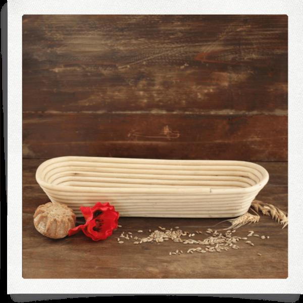 Proofing basket for 1,5 kg bread oblong