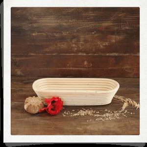 Proofing basket for 1 kg bread oblong