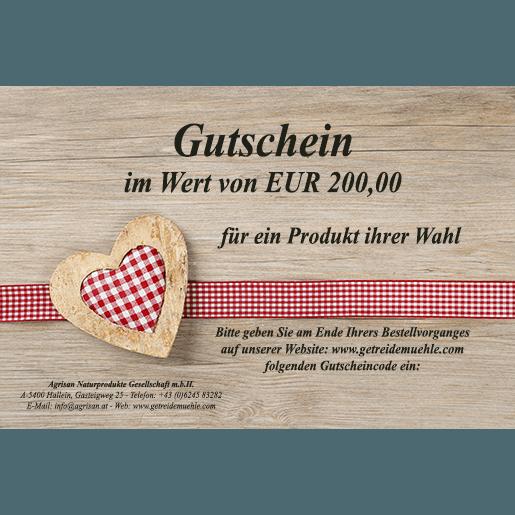 Gutschein im Wert von 200,00 Euro